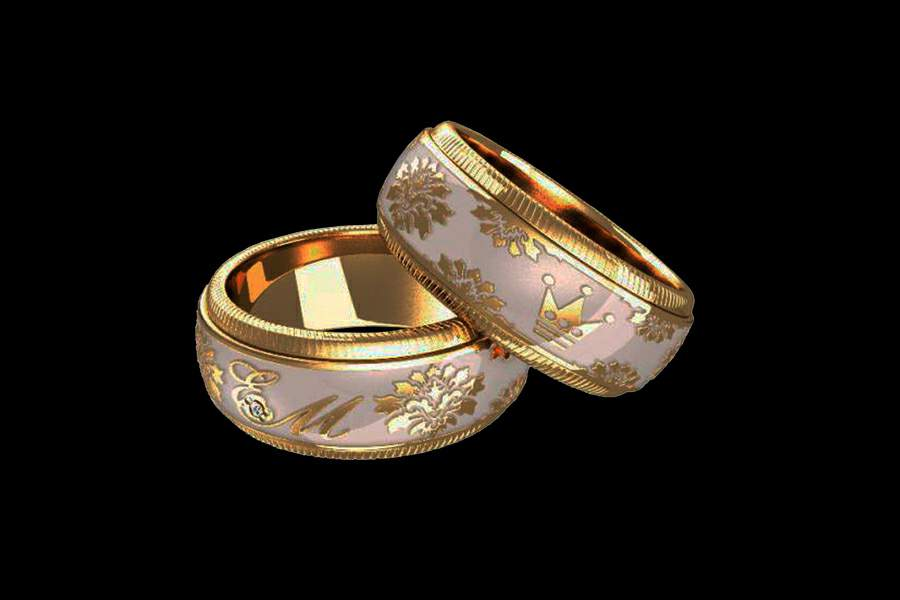 cigar cypher ring wedding rings signet band bespoke monogram shop with